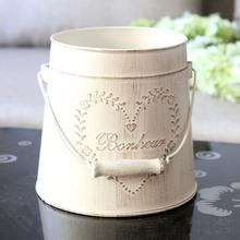 Vintage Pastoral Style Metal Vases Artificial Flower Pots Craft for Storage Home Decor Garden Decoration(China (Mainland))