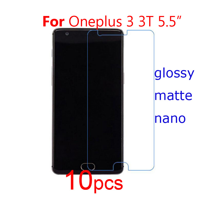 1Oneplus 3 3T Phone Screen Protector Clear/matte/Nano Guard Protective Films One Plus Oneplus A3000/X ONE E1001  -  Jasmine1108 Store store
