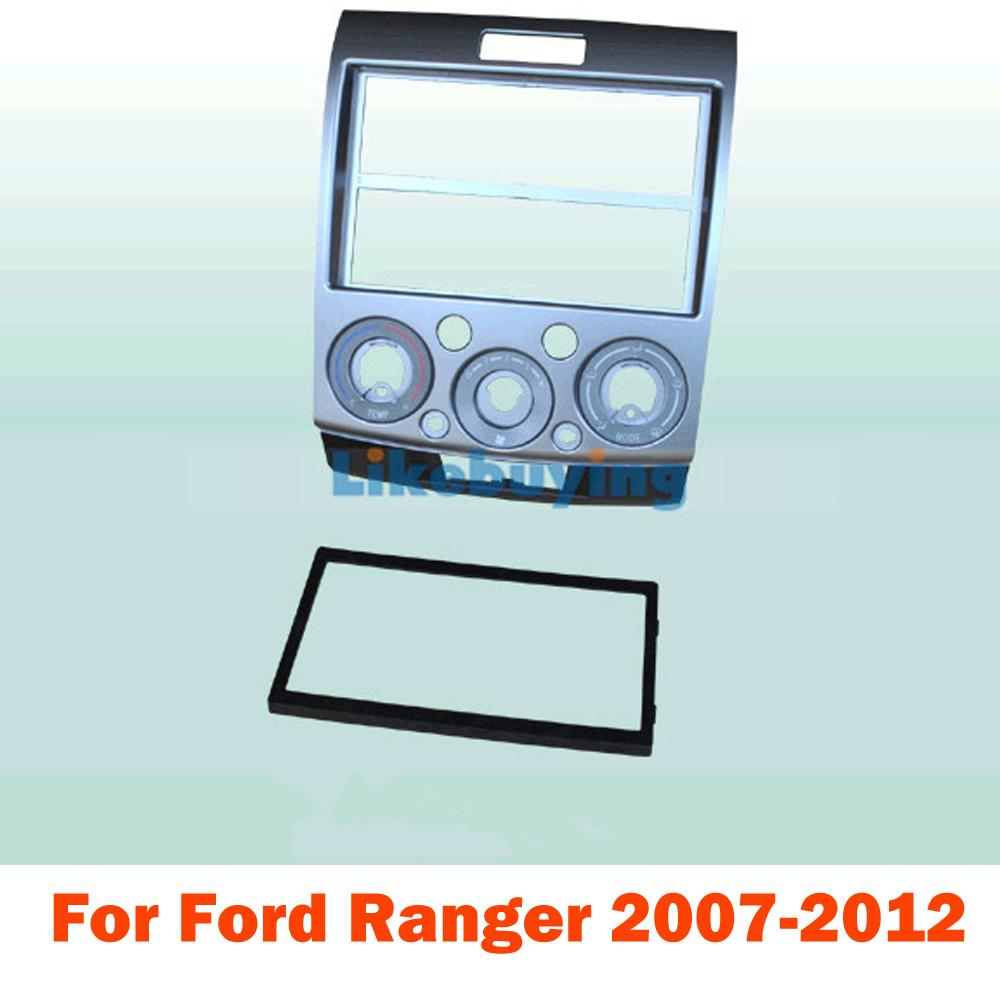2 Din Car Kit / Car Fascia Panel / Audio Panel Frame / Car Dash Kit For Ford Ranger 2007 2008 2009 2010 2011 2012 Free Shipping(China (Mainland))