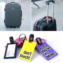 Random Color!!! Hot Fashion Cute Durable Mini Secure Travel Suitcase ID Luggage Large Tag(China (Mainland))