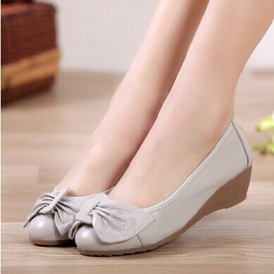 5 colors women flats and women genuine leather flat shoes 2014 new fashion women casual single shoes