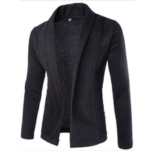 Hot 2016 New Fashion Brand Casual Sweater Men Solid Color Classic Men Knitting Cardigan Men Trend Slim Fit Men's Sweater 2XL(China (Mainland))