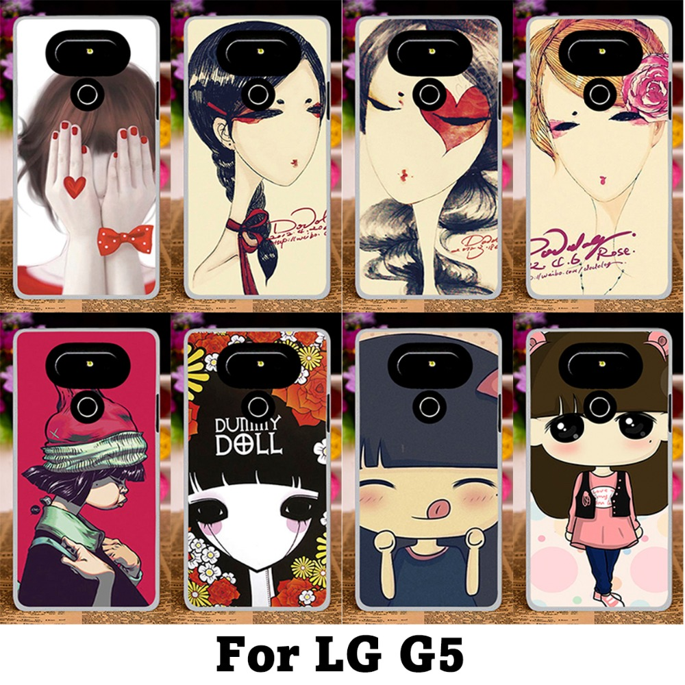 Retro Style illustration Phone Case For LG G5 H830 5.3 Inch Puppet doll\New Lovely Ghost baby Hard Plastic Back Cover Skin Shell(China (Mainland))
