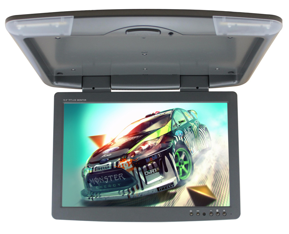 15.4 inch Ultra-thin TFT LED Roof Mount Flip down Monitor(China (Mainland))
