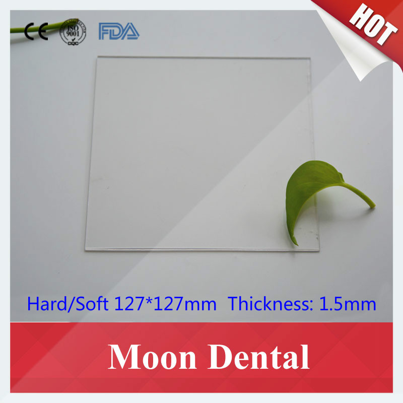 150 PCS/10 bags 127*127mm*1.5mm Dental Orthodontic & Beauty White Plastic Thermoplastic Vacuum Forming Material Film Sheet(China (Mainland))