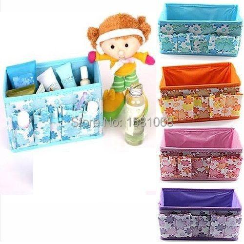 E93Folding Multifunction Makeup Cosmetic Storage Box Container Case OrganizerFree Shipping wholesale/retail(China (Mainland))