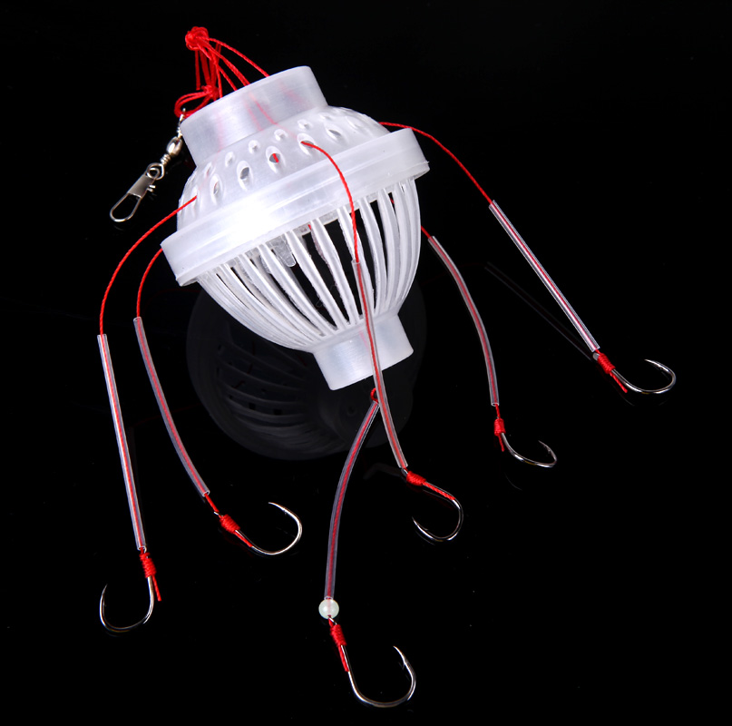 Carbon Steel + Plastics Carp Fishing Hook Sea Monster with Six Strong Spherical Fishing Hooks Tackle Tool(China (Mainland))