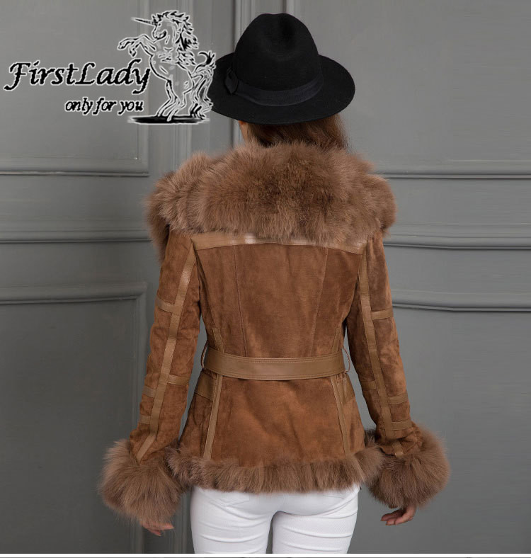 Real fox collars real leather jacket 16