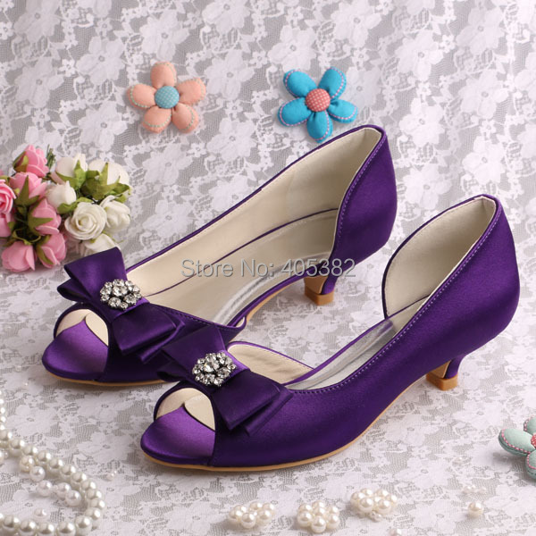 Low Heel Purple Shoes Promotion-Shop for Promotional Low Heel ...
