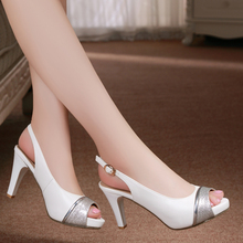 Free shipping women high heel shoes genuine leather more color(China (Mainland))