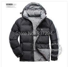 Have LOGO!!2014 new Fashion Hot sale Newest Design Men Double Side duck Down Jacket Men's Winter Overcoat Outdoor Clothes coat