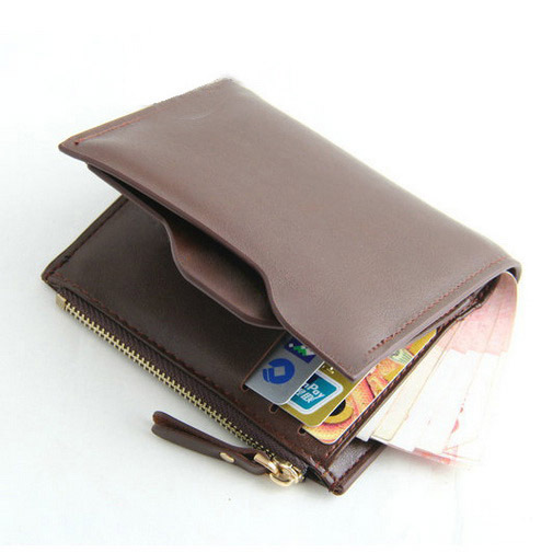 High Quality Man Wallets PU Leather Carteira Masculina Leather Men Wallets Zipper Business Brand Card Holder Coin Purse Wallet(China (Mainland))