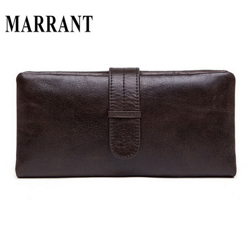 Hot Sale Genuine Leather Men Wallet Chocolate Color Designer Long Coin Pocket Real Genuine Male Purse Men Wallets Free Shipping(China (Mainland))