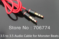 Male to Male1m 3.5 to 3.5  Car Aux Audio Cable for Monster Beats Cellphone 20pcs/lot Free Shipping