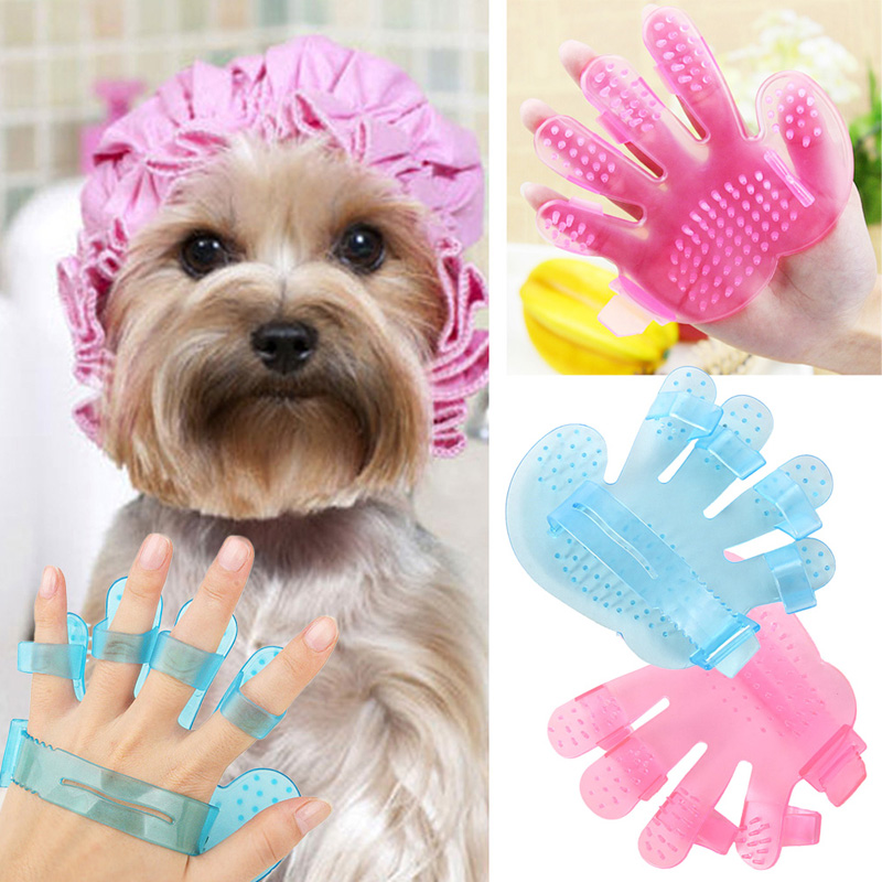 2016 new Convenient useful Pet A Bath Brush Massage Dog Brush Pet Dog Grooming Palm Brush Rubbing pet bath good helper(China (Mainland))