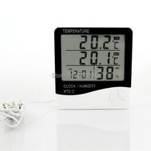 Higrotermógrafo pantalla grande LCD Digital de humedad termómetro interior exterior termohigrómetro termómetro de alarma higrómetro Meter
