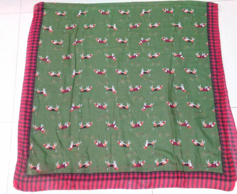 2016 New Fashion Beagle Print Scarf Harry Scarf Cute Dog Scarves Shawl Wrap Wholesale 100pcs/LOT Free DHL SHIPPING(China (Mainland))