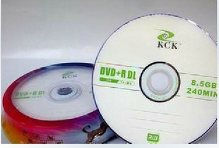 Banana KCK DVD + R DL 8.5 G 8 x D9 CD burning large capacity blank disc 10pcs/lot(China (Mainland))