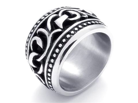 Mens Jewelry wholesale Stainless Steel Beauty Gold a lot of Crystals Mens Ring USA Size 9 10 11 12 R223