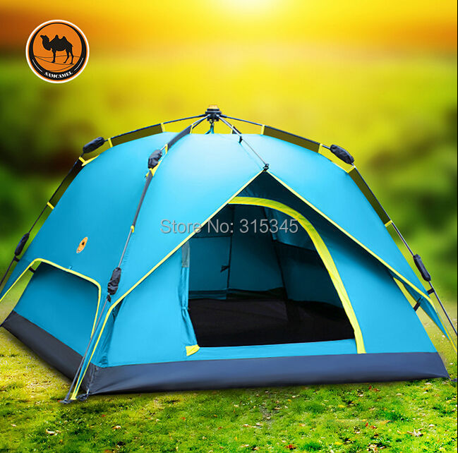 Camel Outdoor Hiking Professional 3-4 People 4-Season Family Cabin Tent(China (Mainland))