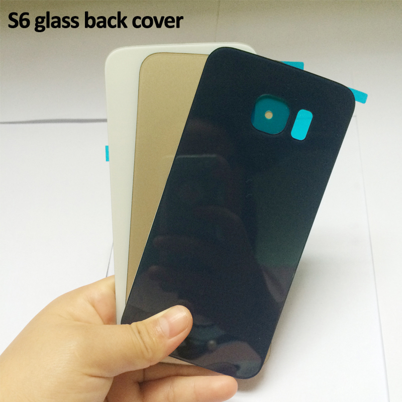 FAST China Post Tracking Shipping Replacement Glass Housing Battery Back Cover Rear Glass Door For Samsung S6 S6 edge G925(China (Mainland))