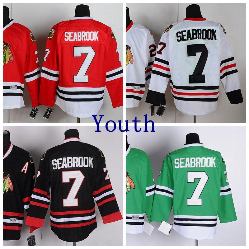 #7 Seabrook Seabrook Ice Hockey Jerseys ice hockey jersey mighty ducks movie jerseys all stitched jerseys winter sport wear ice wholesale dropship factory outlet