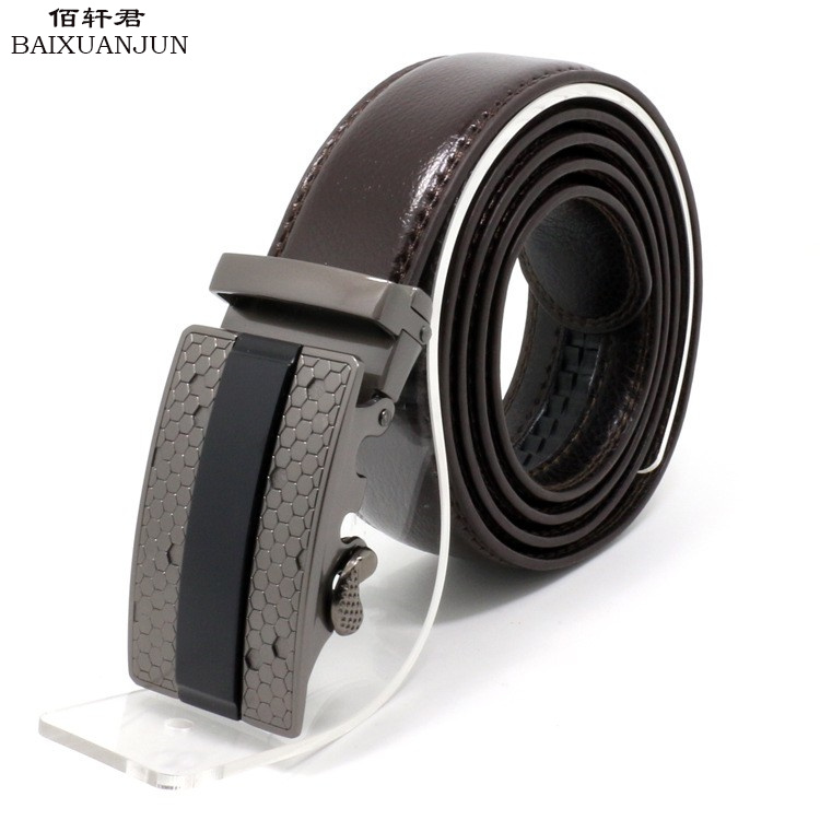 [BAIXUANJUN]The new pure leather belt leisure wild men's belt business automatic buckle belt male genuine brown leather belt(China (Mainland))