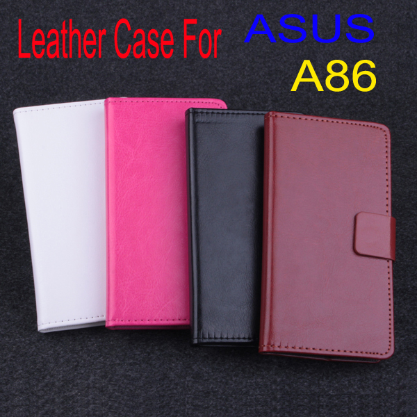 New hot!!! Original Super Quality Stand Cover Leather Case For 5.0'' ASUS A86 (The new PadFone Infinity) Mobile Phone(China (Mainland))