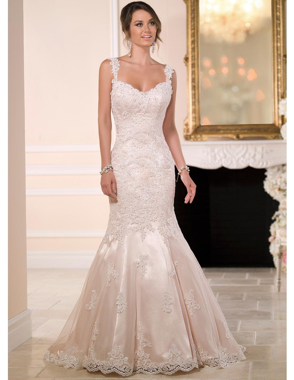 Vestidos novias 2016 женщин сексуальный спинки принцесса русалка свадебное платье с длинным формальные невесты платья traje novia - 624