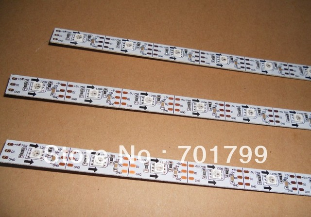0.5m long WS2811 built-in 5050 SMD 16LEDs led digital bar light,DC5V input;non-waterproof