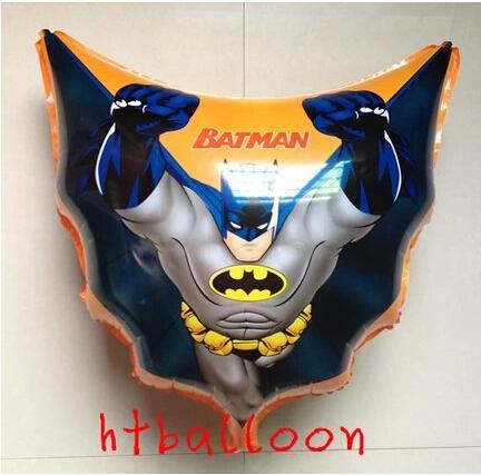 New 4pcs BAT foil balloons,bat super men classic toys,happy birthday party decoration kids,hero PVC ballon globos baloon(China (Mainland))