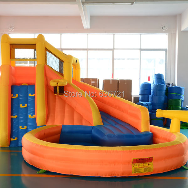 Water slide inflatable water park inflatable water slide water game playground(China (Mainland))