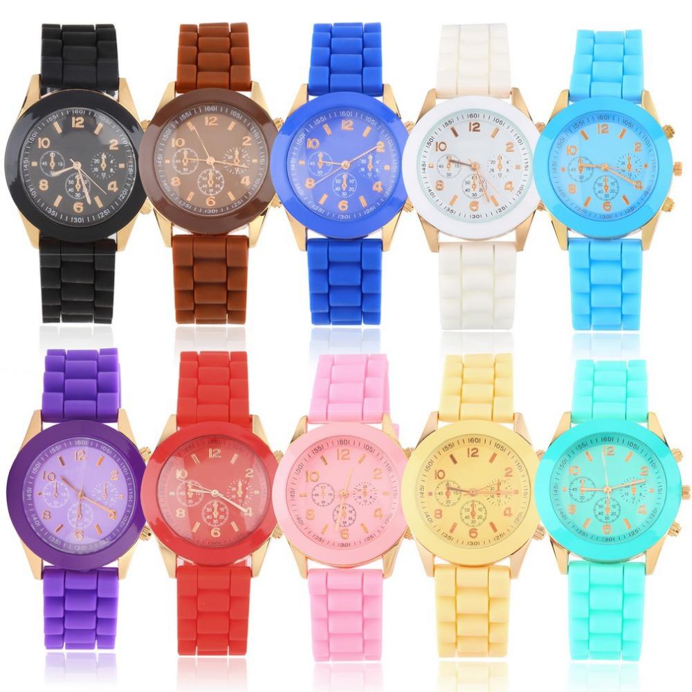 Гаджет  1 pcs fashion Unisex Geneva Silicone Jelly Gel Quartz Analog Sports Wrist Watch 2014 new None Ювелирные изделия и часы