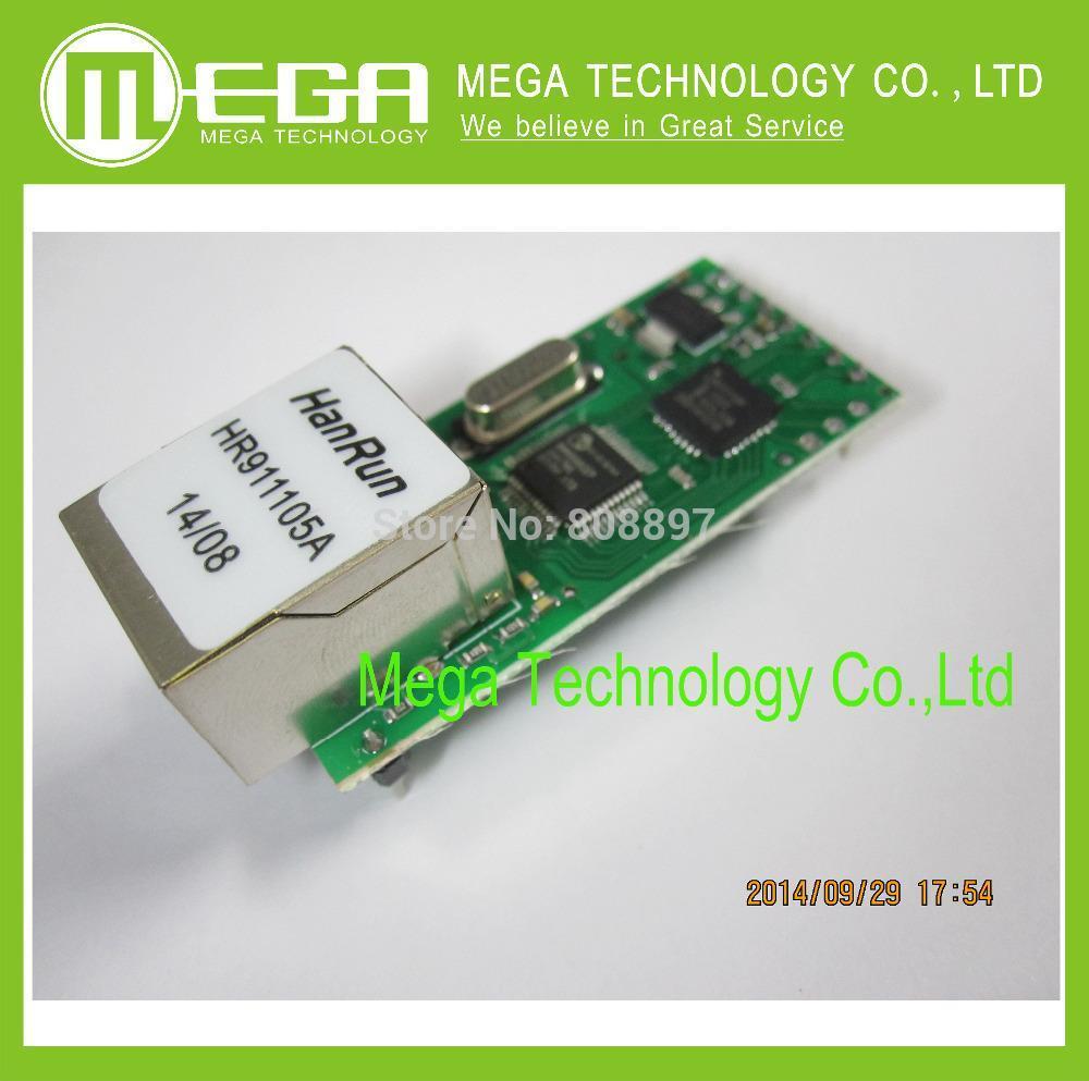 5PCS Serial Port Server Module Ethernet Network To RS232 TCPIP RJ45 To TTL Seckill ENC28J60(China (Mainland))
