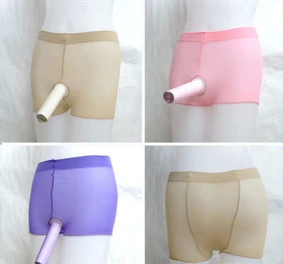 2016 New Hot Male boxer stockings JJ Open Not Open underwear perspective taste high elastic stockings masturbation Panties(China (Mainland))
