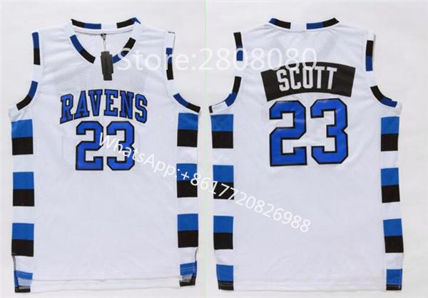 SexeMara Cheap Film Throwback Basketball Jerseys,Nathan Scott 23 One Tree Hill Ravens Movie Stitched Jersey Free Shipping(China (Mainland))