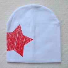 2015 New Arrival Baby Kid Toddler Cute Stars Printed Hat Soft Warm Cotton Girl Boy Beanie Cap Wholesale(China (Mainland))