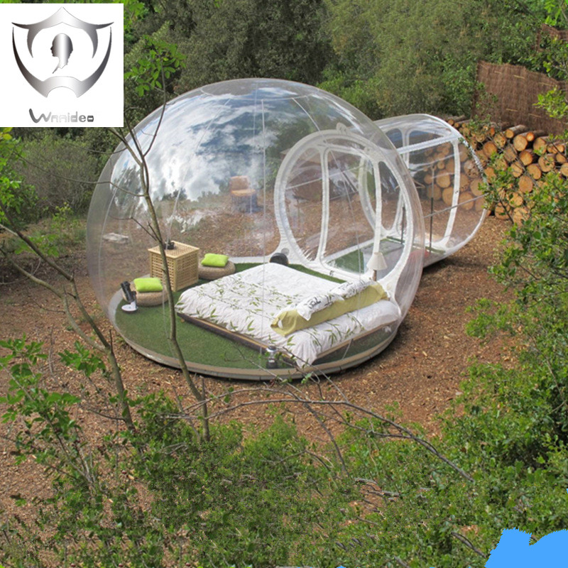Wnnideo Outdoor Single Tunnel Inflatable Bubble Tent Family Camping Backyard Transparent(China (Mainland))