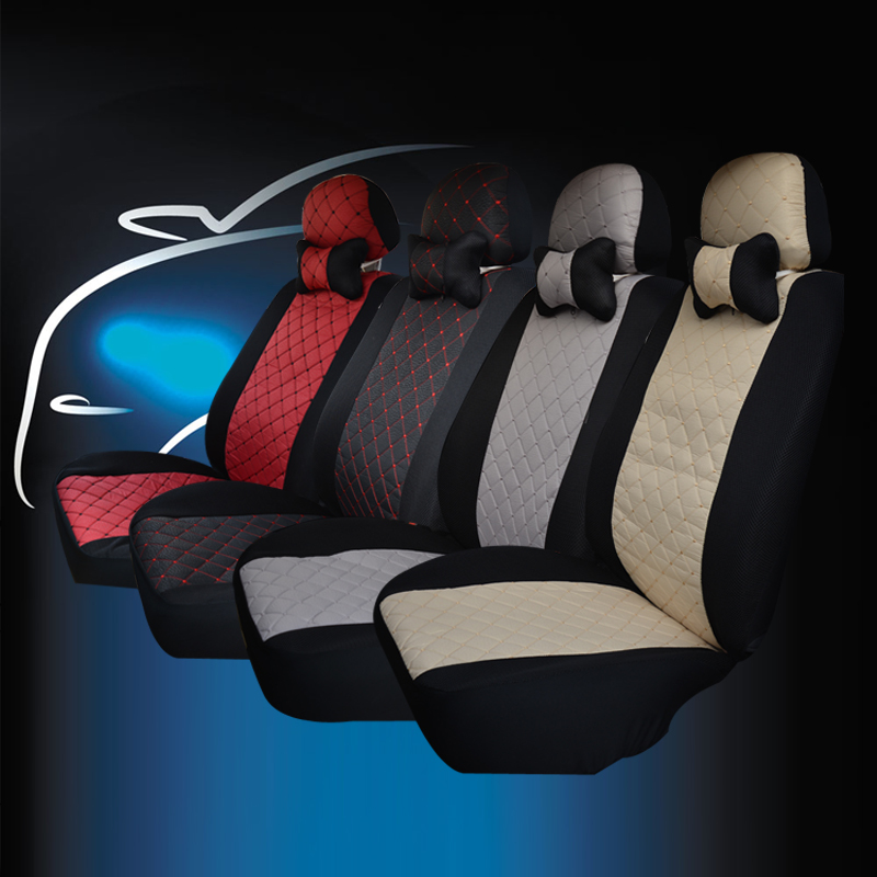 Polyester with Composite Sponge + Mesh Car Seat Cover Car-Styling Lada Car covers Hot Selling Car Seat Accessories(China (Mainland))