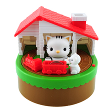 2015*Itazura Stealing Coin Cat Mouse Kitty Penny Piggy Bank Saving Box Money Box Kid Child Present Gift(China (Mainland))
