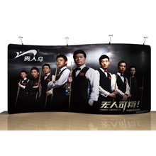 Portable 20ft S tension fabric trade show display backdrop wall booth exhibits pop up banner stand with custom graphic(China (Mainland))