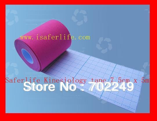 sports game match tennis strong durable 7.5cm x 5m Extra Water Resistant muscle Therapy elastic cotton Kinesiology Tape