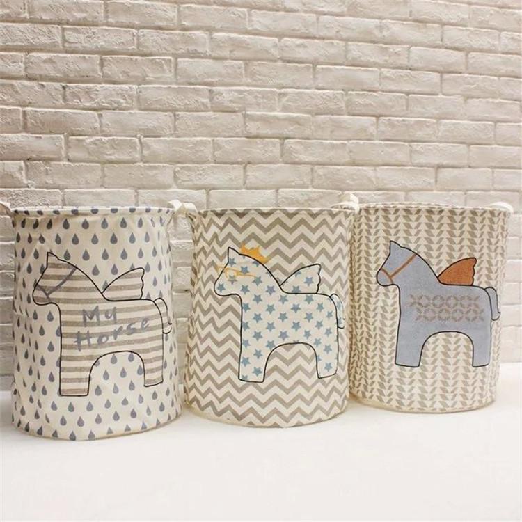 New Pegasus Dirty Barrel Folding Toy Storage Boxes Creative Laundry Box Clothes Basket Bra Necktie Socks Storage Organizer Bins(China (Mainland))