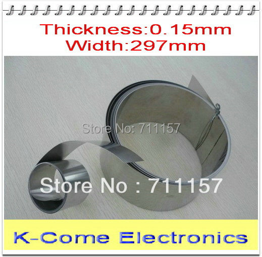 0.15mm Thickness 297mm Width Stainless Steel Sheet Plate Leaf Spring Stainless Steel Foil The Thin Tape Free Shipping(China (Mainland))
