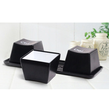 3PCS Black New Fashion Simple Keyboard Type Ctrl ALT DEL Tea Coffee Cup Mug Container