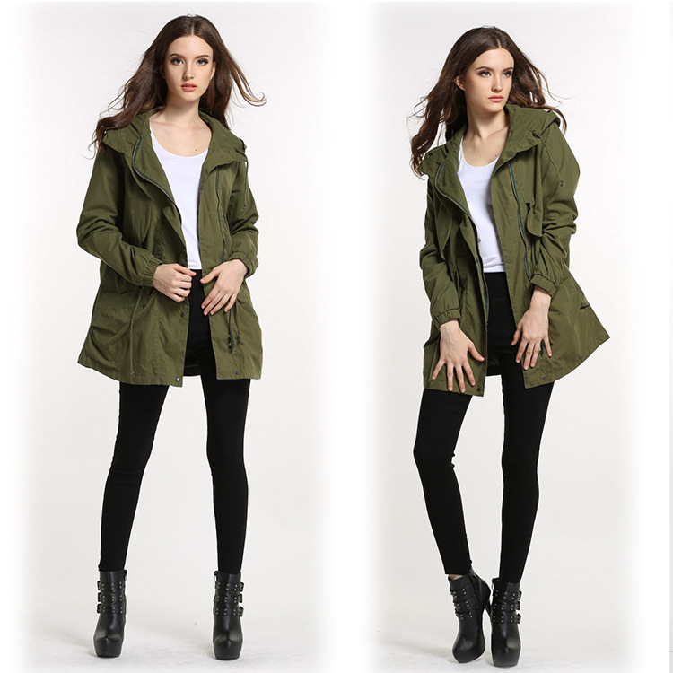 Green Ladies Jacket - Coat Nj