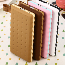 SA18 4 Colors Cute 8000mAh Cookie Power Bank Portable External Battery Backup Charger Birthday Gift Universal For Mobile Phones
