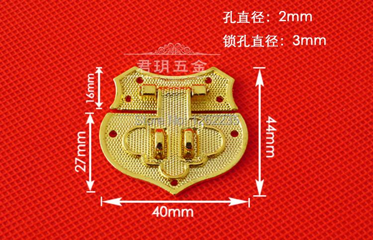 44 * 40mm Palette accessories hasp Kim Box lock imitation Heart Alloy Ancient Heart-shaped box clasp(China (Mainland))