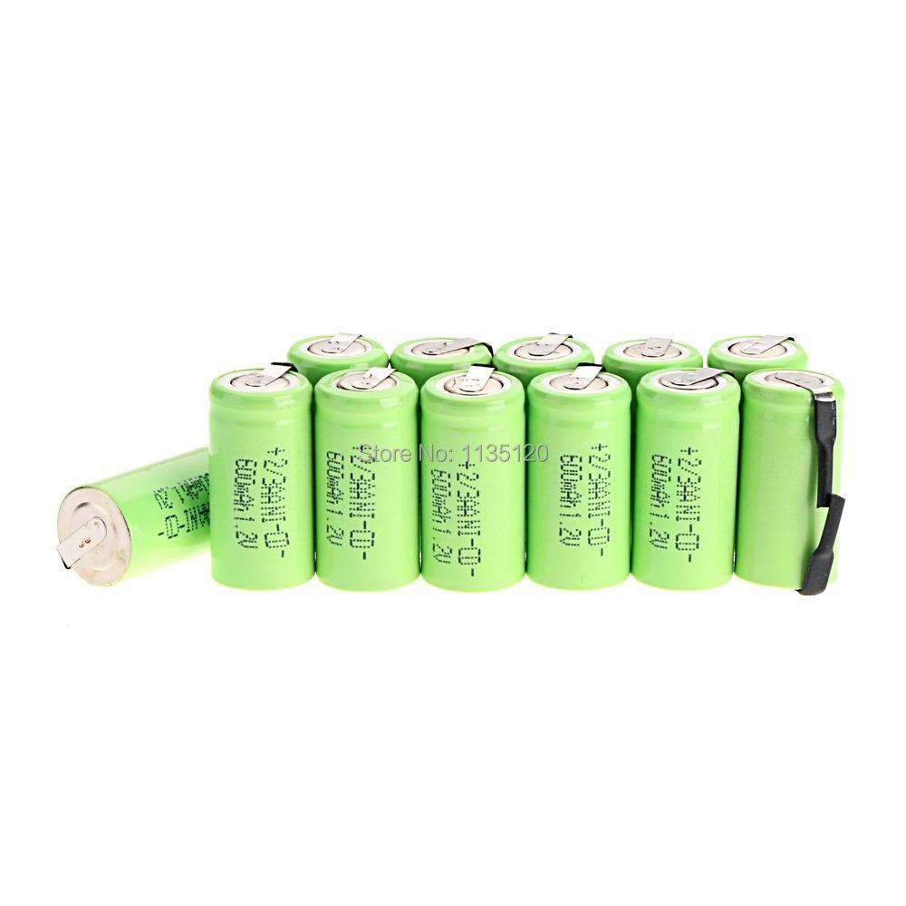 Аккумулятор 12pcs AA ni/cd 600mAh 1.2V 2/3AA NiCd цена 2017