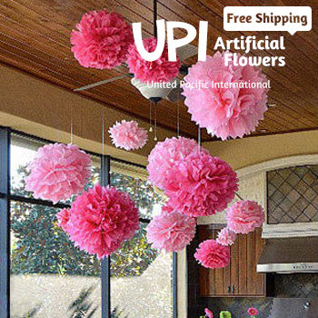 6inch 10 Diy Pom Poms Multicolour Paper Wedding Flowers Ball Party Decoration Mix Colors - Union Pacific International Trading Ltd. store